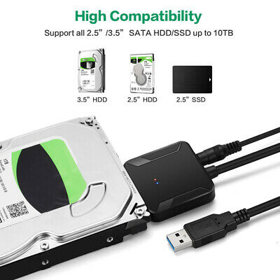 "SATA  to USB 3.0 Converter Cable Adapter for 2.5"" 3.5"" inches HDD SSD Hard Drive"