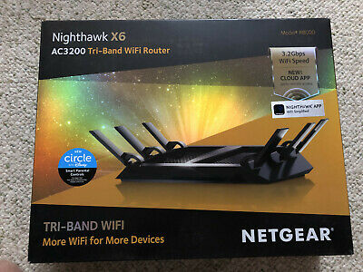 NEW - NETGEAR Nighthawk X6 AC3200 R8000 Tri-Band Wifi