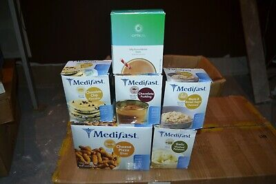 NEW LOT Optavia Medifast oatmeal pancakes bites shake pudding 6 Boxes - 42 Meals