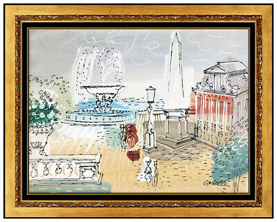 Charles Cobelle Original Painting Oil On Canvas Paris French Signed Framed Art