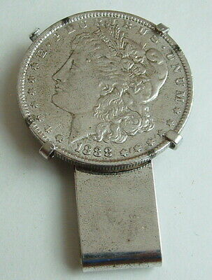 1888  Morgan Silver Dollar With Money Clip