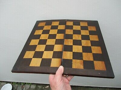 A Quite Large Quality Victorian Folding Chess Board c1860