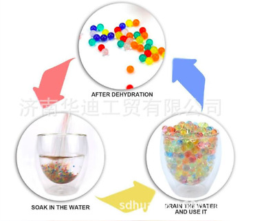 15g Pack Crystal Soil Water Beads Jelly Ball Vase FillerHome Wedding Decoration