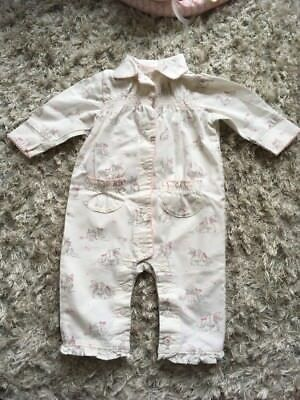 Next Bunny Baby Girls Pyjamas All In One Babygrow 3-6 Months