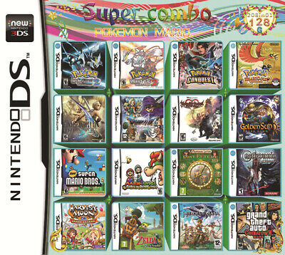 208 In1 DS 3DS Video Game Cartridge Card Game Console MULTI CART 128G