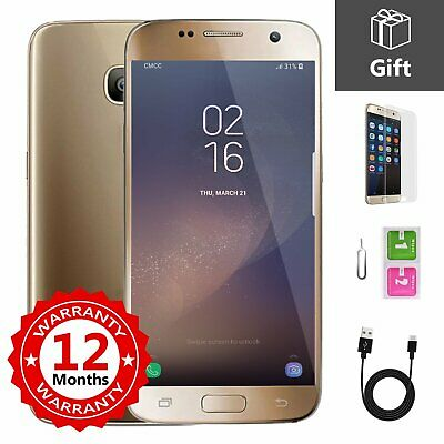 SAMSUNG GALAXY S7 32GB Unlocked 4G Android Mobile Phone Smartphone Gold