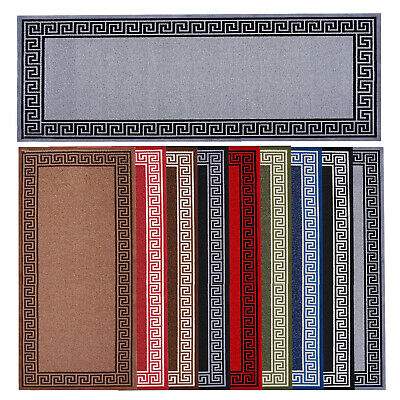 Small Size Area Rug Greek Key Machine Washable Non Slip Modern Cheap Door Mats