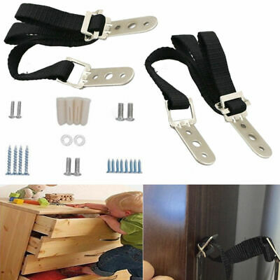 2x Anti-tip TV Furniture Straps Anchor Baby/Child Safety Proofing UK
