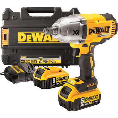 "DeWalt DCF899P2 18V High Torque Brushless 3 Speed Impact Wrench 1/2"" Sq Drive 5A"