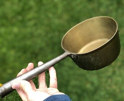 Antique Brass Saucepan