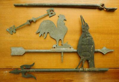 Antique Australian Bespoke Magpie & Rooster Weather Vanes A/F 1900s