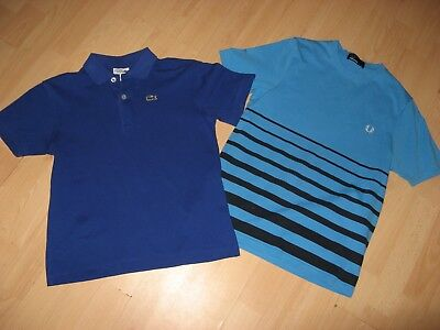 Worn Once Boys Designer T-Shirt Bundle Lacoste Fred Perry T-Shirts Age 10-11-12