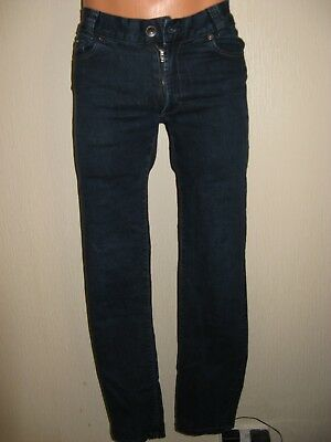 Worn Once Boys Hugo Boss Slim Fit Stretch Straight Leg Dk Blue Jeans Age 12-14