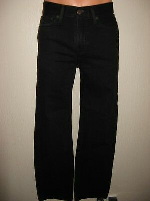 Worn Once Boys Black Abercrombie & Fitch Slim Fit Straight Legs Jean Age 15-16