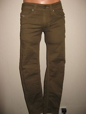 New Boys Khaki Diesel Thavar J Bts Slim Skinny Fit Stretch Low Rise Jeans Age 14