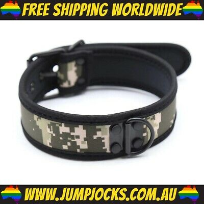 Camo Rubber Puppy Collar - Fetish, Bondage, Gay *FREE SHIPPING WORLDWIDE*