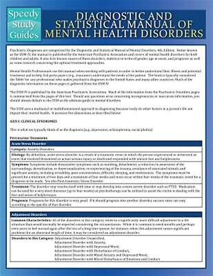 Diagnostic Statistical Manual Mental Health Disorders (Spe by Speedy Publishing