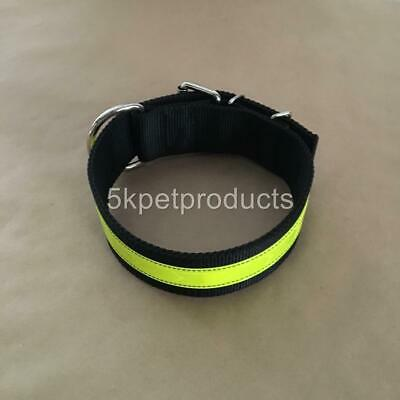 """Reflective Large Collar Pit Bull Collar Big Dog Heavy Duty 2"""" Wide Double Ply"""