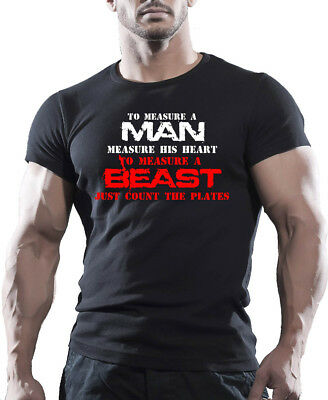 BEAST MENS BODYBUILDING GYM MOTIVATION T-Shirt MMA WORKOUT CLOTHING TOP TEE UFC