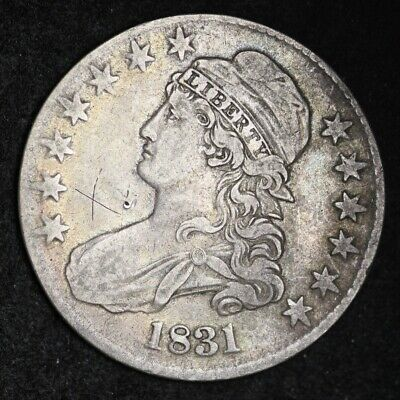 1831 Capped Bust Half Dollar CHOICE XF FREE SHIPPING E416 GHT