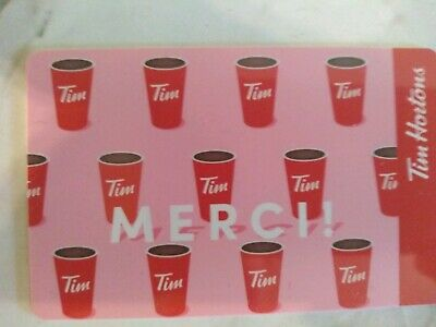 Collectable Tim Hortons Merci Coffee Cups Gift Card #Fd65955..No Monatary Value