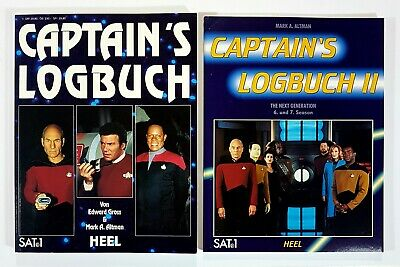 Heel STAR TREK - CAPTAINS LOGBUCH 1 & 2 dt. Episodeguide KIRK/PICARD/ENTERPRISE