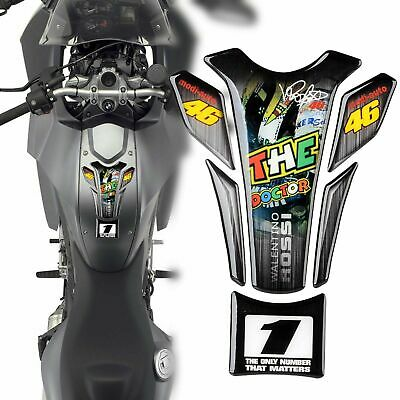 Protection sticker Réservoir Moto Bike tank pad panel gel résine El Doctor Rossi