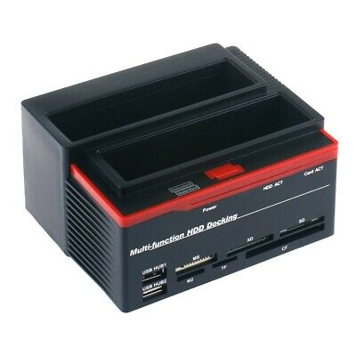 Docking Station Triplo Triple 3 Hard Disk 3,5 2,5 Doppio Sata 1 Ide Hd Box