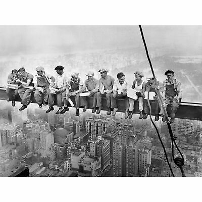 Photography Mini Poster featuring Charles C Ebbets Lunch Atop A Girder 50x40cm