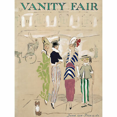 Plummer Cover Vanity Fair Magazine 1914 Artwork Large Wall Art Print 18X24 In