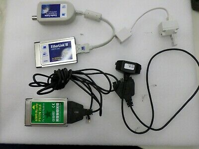 PCMCIA Networking Cards with Software and Accessories - LAN and MODEM