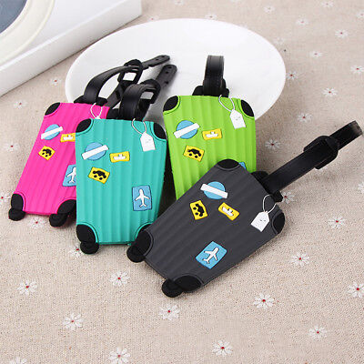 Travel Luggage Rubber Bag Tag Name Address ID Label Mini Suitcase Baggage Tag