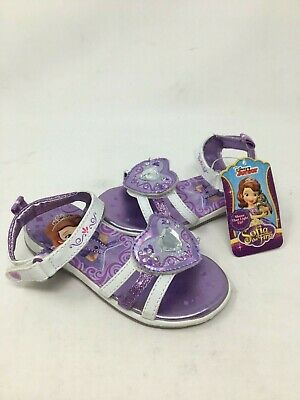 NEW! Disney Toddler Girl Sofia the First Light Up Sandals Purp/Wht  #39142 h18cm