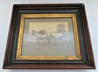 "Antique Aesthetic Eastlake Victorian Deep Carved Picture Deep Frame 14"" x 12"""