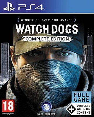 Watch Dogs Complete Edition Game (PS4) BRAND NEW SEALED WATCHDOGS