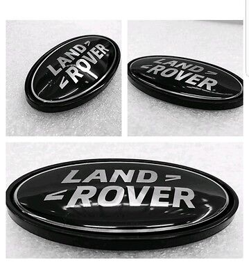 Land rover black/silver front/rear emblems fits discovery 4 freelander 2 3