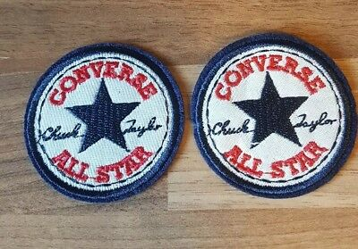 converse all star iron on badge emblems X2 supplied 2inch free p&p