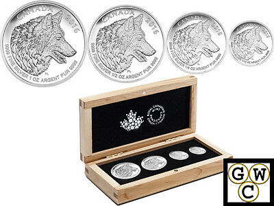 2016 'Wolf Fractional Set of 4 Coins' Proof Silver Set .9999 Fine(NT)(17501)