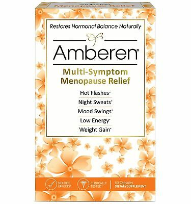 Amberen Menopause Relief Promotes Hormonal Balance, 60 capsules exp 9/2022+