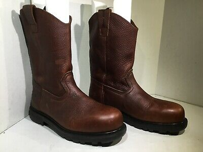 """bdc2b173f1a IRON AGE MENS Size 10 Hauler 11"""" Brown Leather EH Steel Toe Work Boots  YC-1477"""