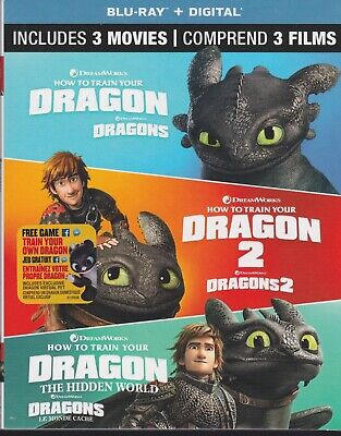 HOW TO TRAIN YOUR DRAGON 3 MOVIE TRILOGY BLURAY & DIGITAL SET with Jay Baruchel
