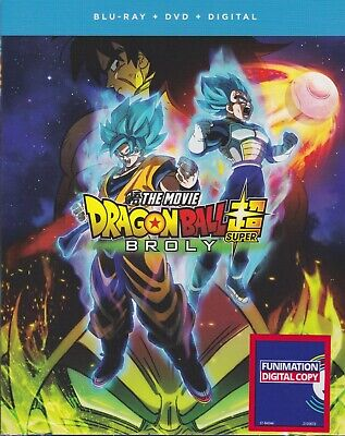 DRAGON BALL SUPER BROLY THE MOVIE BLURAY & DVD & DIGITAL SET - Funimation Anime