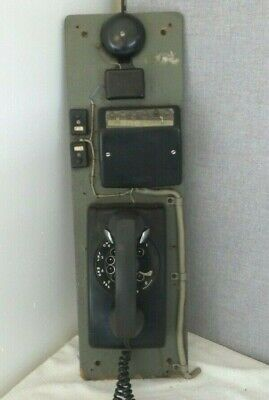 VINTAGE Western Electric Black Rotary Dial Up Wall Phone/Multi-line/Bell