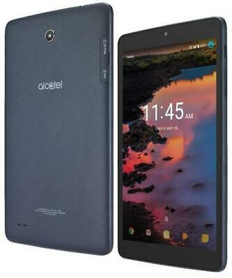 Alcatel A30 9024W 16GB WiFi + 4G 8in. Blue Tablet T-Mobile (ENGRAVED)