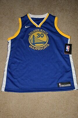 timeless design 000b9 8c608 NIKE YOUTH BOY'S Golden State Warriors Curry Swingman Jersey Size YXL  (Blue) NWT