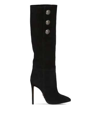 7318dbd0862 DUNE ROSALIND SLOUCHY Leather Waterresistant boots Black 41/10 ...