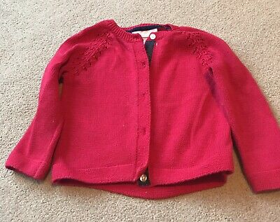 The little White Company Red Baby Cardigan 9-12months Girl