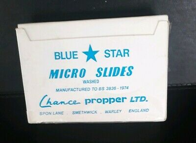Blue Star Micro Slides Aprox 100