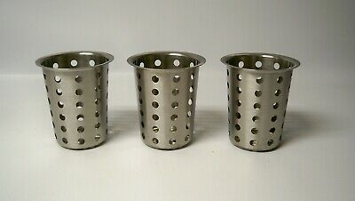 *NEW* Cal-Mil 1017-39 Perforated Metal Utensil Cylinder (Qty 3)