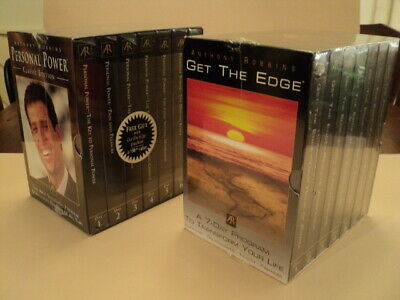 Anthony Robbins - GET THE EDGE & PERSONAL POWER - Audio Cassettes - New Sealed